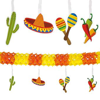 4 Metre Paper Garland Mexican Fiesta Bunting