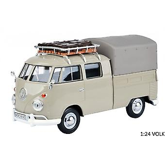 MotorMax Motormax Volkswagen VW Type 2 (T1) Double Cab Canvas Pick Up  1:24