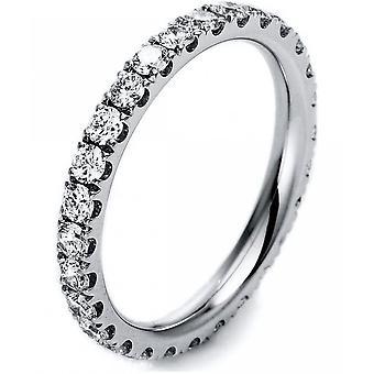 Diamond ring ring - 18K 750/- white gold - 1.1 ct.