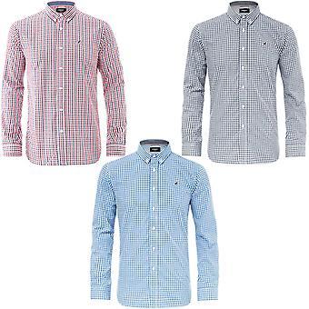 Kangol Mens Creed Plus Big Tall King Size Long Sleeve Buttoned Check Shirt Top