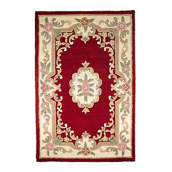 Lotus Premium Aubusson Rug - Rectangular - Rojo