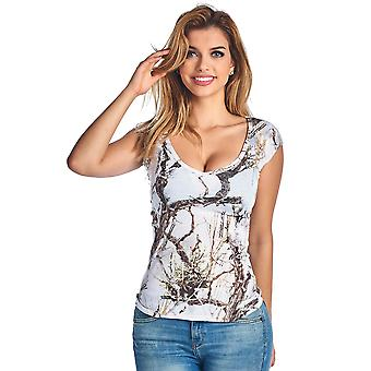 Women's Camo V-Neck True Timber Camouflage Blouse