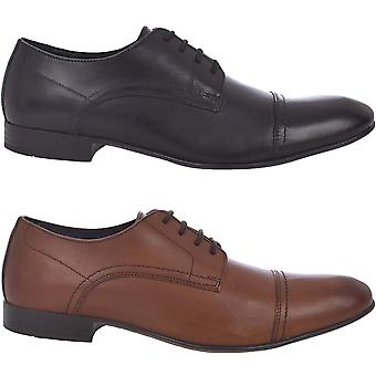 Ikon Mens Hastings Formal Smart Lace Up Leather Low Rise Plain Oxford Shoes