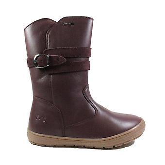Primigi Sara 24369 Bordeaux Suede Leather Girls Long Leg Boots