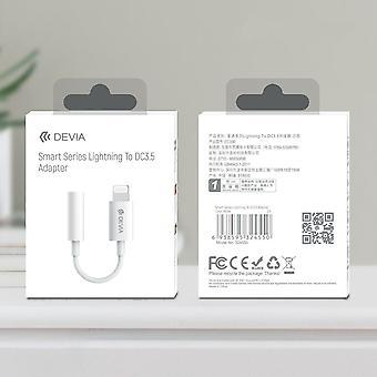 Lightning Till 3,5 mm Aux Audio Jack Devia Smart Adapter - Vit