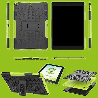 Voor Apple iPad 10,2 inch 2019 7e generatie hybride outdoor beschermhoes groen geval + 0,3 H9 beschermende glas