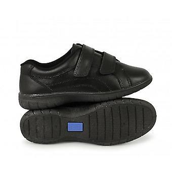 שדרות נשים/הקשר התאומים רקס מגע הידוק X נעלי עור רחב