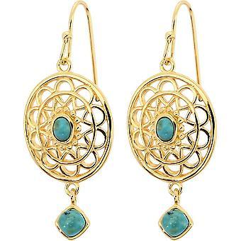 Boucles d'oreilles Stella Dor� & Turquoise