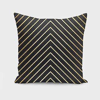 Minimalist and golden art cushion/pillow