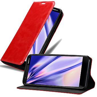 Futerał Cadorabo do obudowy Nokia 3.1 2018 - futerał na telefon z magnetycznym zapięciem, funkcją stojaka i komorą na kartę - Obudowa ochronna Case Book Folding Style