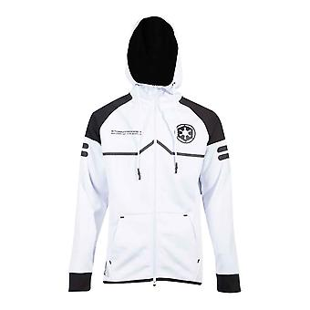 Star Wars Hoodie Storm Trooper Tech new Official Mens White Zipped