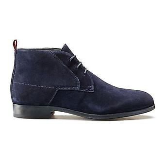 Hugo Boss Footwear Hugo Boss Men's Dark Blue Desert Suede Boots