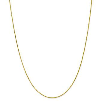 10k 1.2mmパリの小麦チェーン足首ブレスレットジュエリー女性のためのギフト - 長さ:7〜10