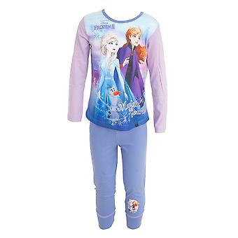 Frozen II Childrens/Kids Long Sleeve Top And Bottoms Pyjamas Set