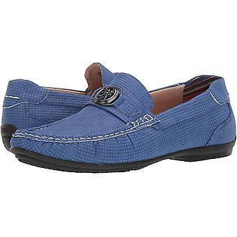 Stacy Adams Mens CYD Leather Closed Toe Slip On Shoes, Azure, Size 8.5