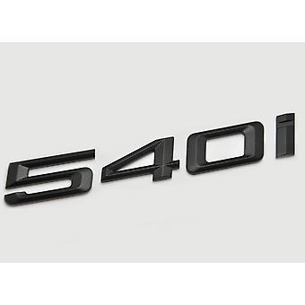Matt Sort BMW 540i bilmodel bageste boot nummer brev mærkat decal badge emblem for 5 serie E93 E60 E61 F10 F11 F07 F18 G30 G31 G38