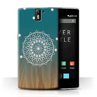 STUFF4 Case/Cover for OnePlus One/Mandala/Wood/Ombre Pattern