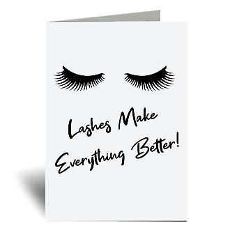 Lashes Make Everything Better A6 Greeting Card