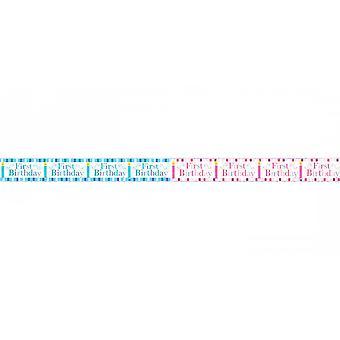Simon Elvin Baby Boys/Girls First Birthday Foil Party Banner