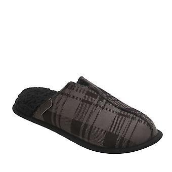 Dearfoams Mens STITCH stof gesloten teen Slip op schoenen