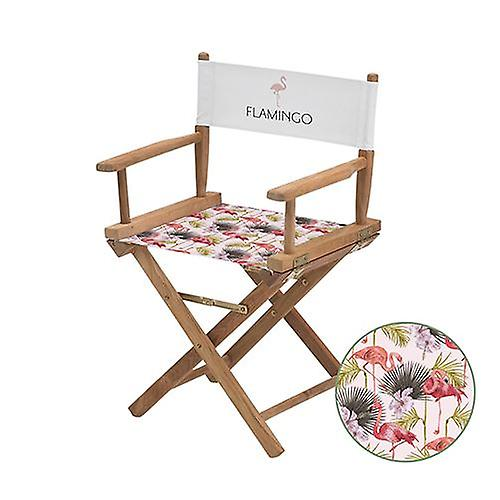 Flamingo Print Directors Chair Replacement Water Resistant Canvas Cover Garden