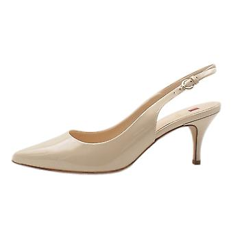 Högl 7-10 6214 Hampton Stylish Pointed Toe Slingback Shoes In Cotton
