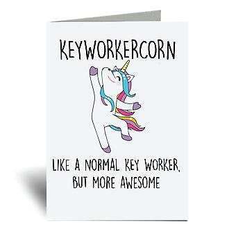 Keyworkercorn A6 بطاقة المعايدة