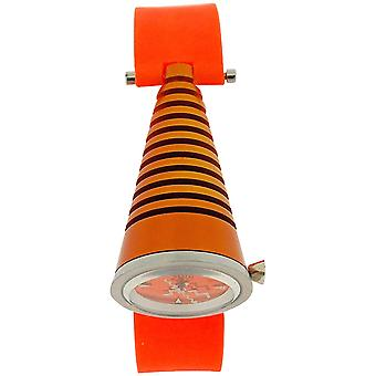 Kool Time Ladies Bright Orange Cone Dial & Silicone Strap Fashion Watch KT01