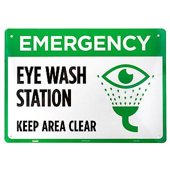Emergency Eye Wash Station Aluminum Sign