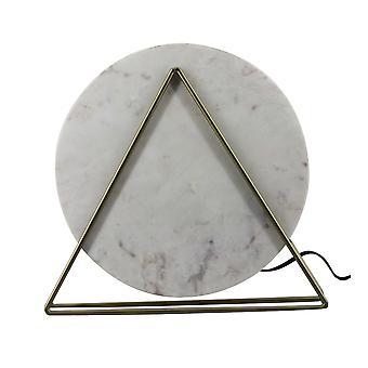 Designer valkoinen marmori ja messinki pöytävalaisin