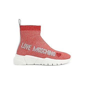 Love Moschino - Shoes - Sneakers - JA15103G1AIR_0500 - Ladies - Red - EU 41