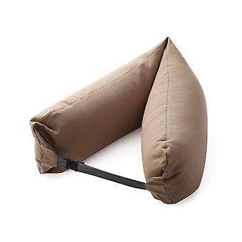 WONDEFO Luxurious Soft Travel Neck Pillow in Camel