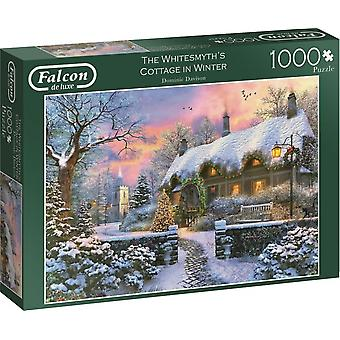 Falcon De Luxe Puzzel - The Whitesmith's Cottage In Winter, 1000 Piece