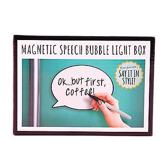 Magnetic Speech Bubble Light Box