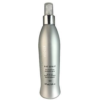 Kenra platina hot haarspray stevige greep en warmte bescherming #20 8 oz