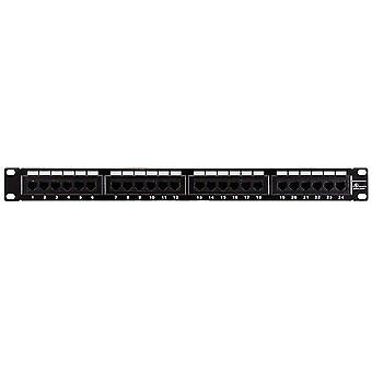 24-Port Cat5e Patch Panel 110 Type (568A/B Compatible) von Monoprice