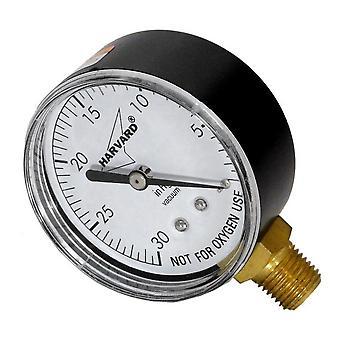 "Amerikanske Granby IPVG3025 4 L 2,5 ""ekstern 0-30 Hg"" plast lavere vakuum måle"