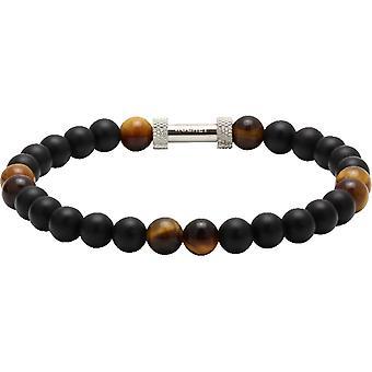 Rochet B26600103-ZEN Agate pärlor svart kvarts Tiger öga stål Molet män