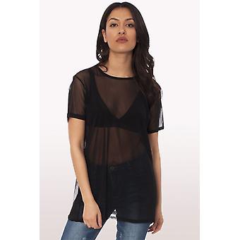 Ladies Oversized Mesh T-Shirt