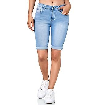 Women Jeans Shorts light casual summer bermuda pants fabric trousers 5 Pocket