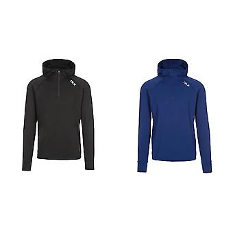 Trespass Mens Robins Hooded 1/2 Zip Top
