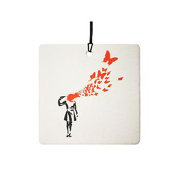 Banksy Suicide Butterflies Car Air Freshener