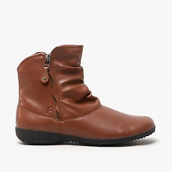 Josef Seibel Naly 24 Ladies Leather Ankle Boots Cognac