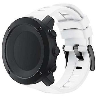 حزام مراقبة سيليكون لـ suunto ambit 3 أبيض عمودي