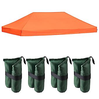 Instahibit 20x10Ft 550D Outdoor Event EZ Pop Up Canopy Replacement CAPI-84 Fabric Tent Top Cover with 4X Weight Sand Bag