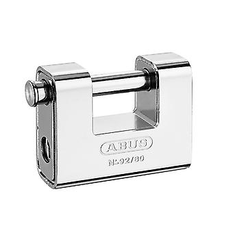 ABUS 92/80mm Monoblock Messing Body Shutter Hanglock gekaard ABU9280C