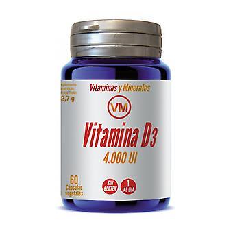 Vitamin D3 (4,000 IU) 60 vegetable capsules