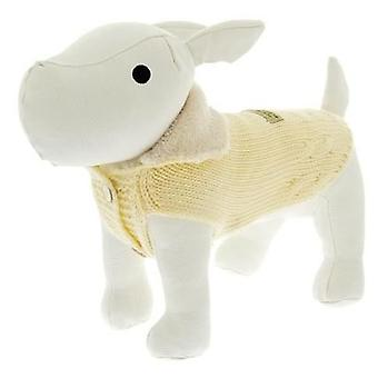 Ferribiella Sweater With Buttons Cm.21 Yellow (Dogs , Dog Clothes , Sweaters and hoodies)