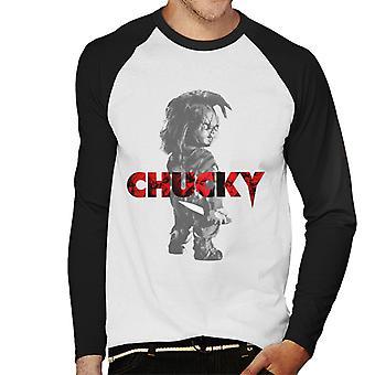 Chucky Blick rückwärts Männer's Baseball langärmelige T-Shirt