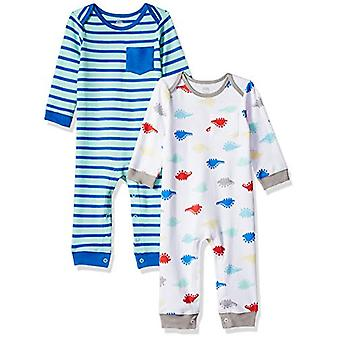 Essentials Baby Boys 2-Pack Coverall, Dino, 12M